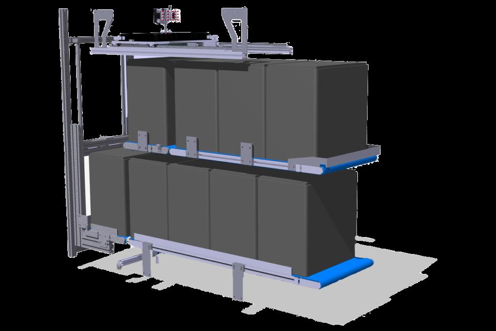 Naprava za avtomatsko pakiranje - 3d izris brez stranic